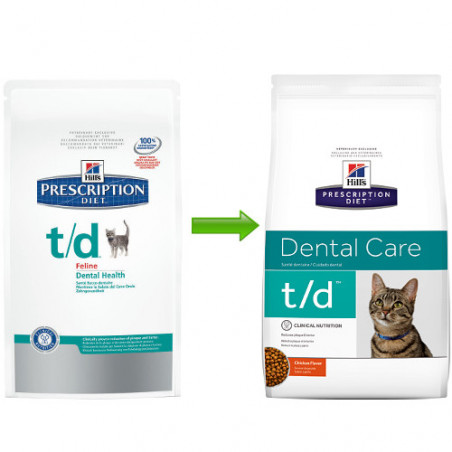 Hill's Prescription Die Feline t/d Enfermedad Dental