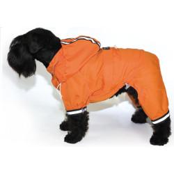 Chubasquero Naranja Para Perros Reflectante