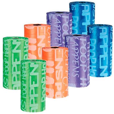 Bolsitas Recambio Dispensador Hueso 8 Rollos Colores diferentes