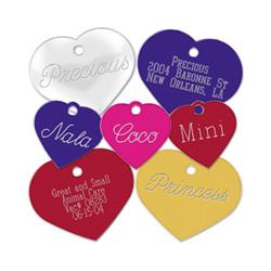 Placas Forma de Corazón Personalizada