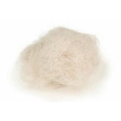 Pelo de cabra blanco para nidos