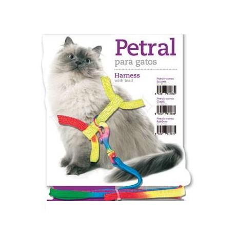 Juego Arnés y Correa Para Gatos - Arcoiris