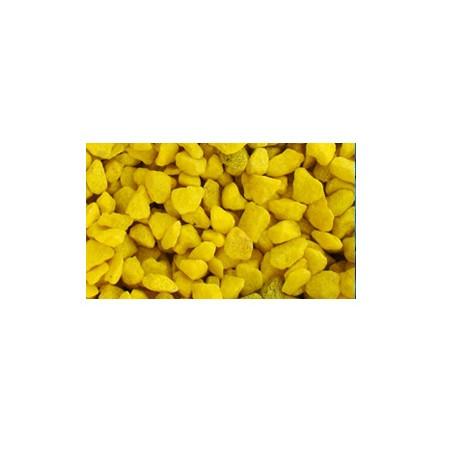 Grava Decorativa Acuario Amarilla 1kg