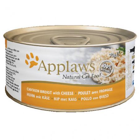 Applaws Lata Pechuga de Pollo Con Queso Para Gatos 70g