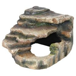 Roca esquina con cueva y plataforma