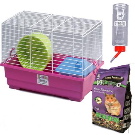 PACK Jaula Para Hamster Nº2 Kit Completa