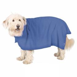 Albornoz perros Microfibra Azul