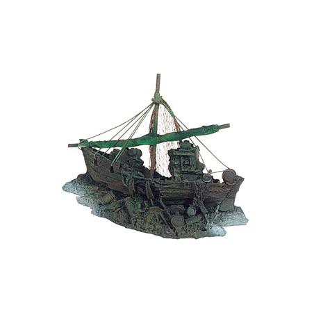 Barco de Pesca Decoración Acuario