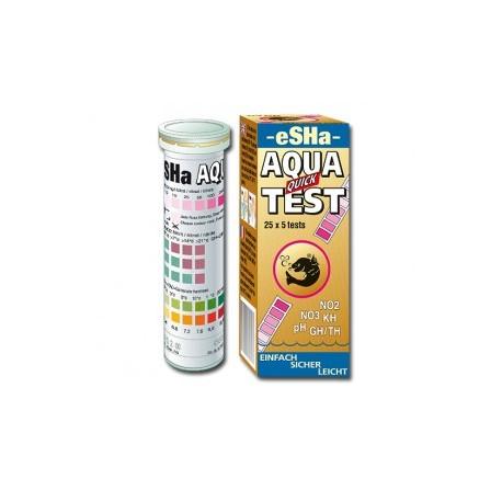 AQUA QUICK TEST 50 Tiras de test pH,KH,GH,NO2,NO3 y Cloro