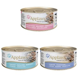 Applaws Pack 12 Latas Surtidas Gatos Pescados de 70Grs