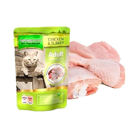 Natures Menu Pouches Gato Pollo y Pavo 100g