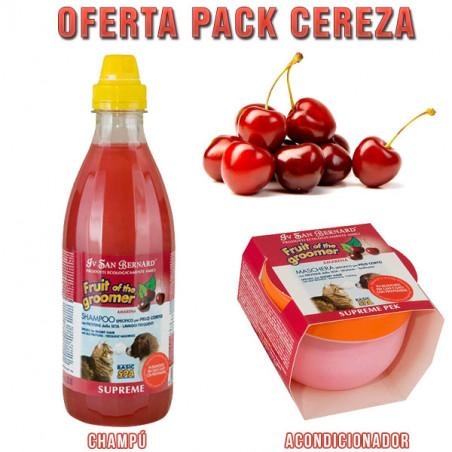 Champú Iv San Bernard Frutas del Groomer Cereza + Acondicionador