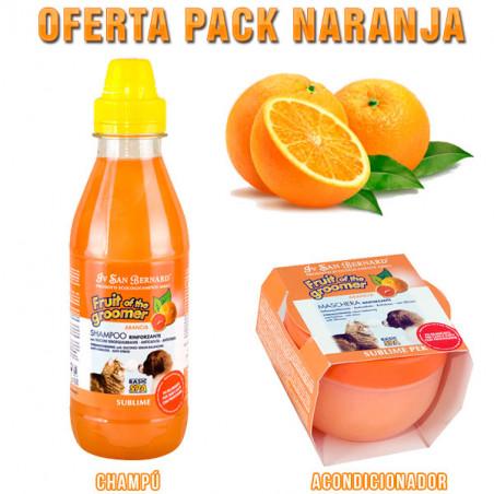 Champú Iv San Bernard Frutas del Groomer Naranja + Acondicionado