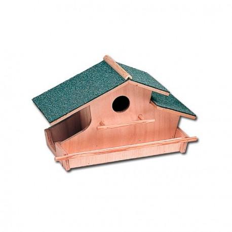 Nido masía casita madera pájaros