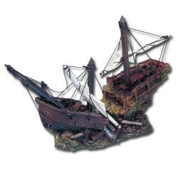 Barco Calabera Pirata Decorar de Acuario