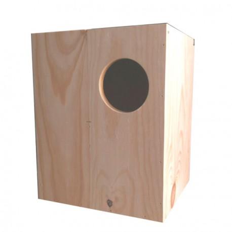 Nido en madera para loros