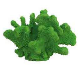 Coral decoración acuario verde