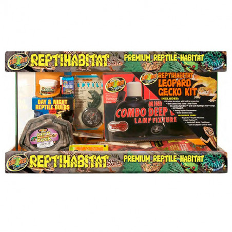 Kit Reptihabitat Gecko Leopardo 38L