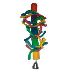 Juguete Pájaros Lazos de Colores y Campana