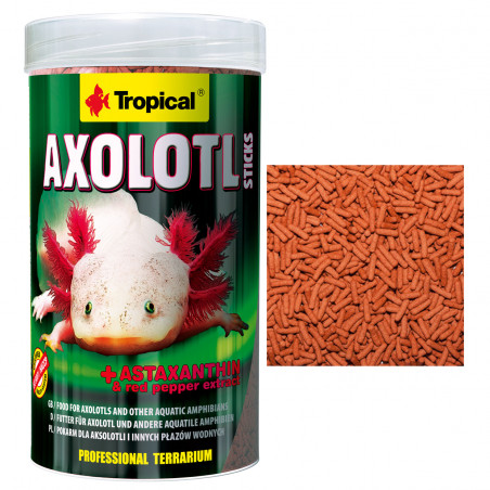 Tropical Axolotl Sticks 250ml Para Anfibios Acuáticos