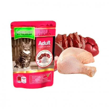 Natures Menu Pouches Gato ternera y pollo