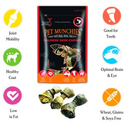 Pet Munchies Salmon Skin Chews Razas Medianas