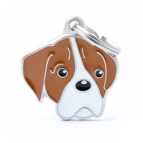 Placa Identificativa Perro Boxer Blanco