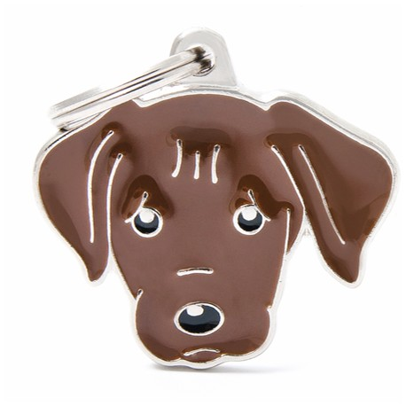 Placa Identificativa Perro Labrador Chocolate