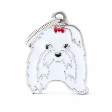 Placa Identificativa Perro Bichon Maltes
