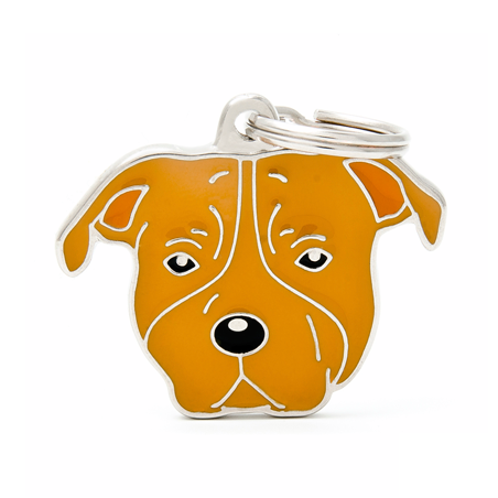 Placa Identificativa Perro American Staffordshire Marron