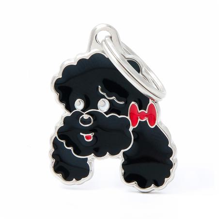 Placa Identificativa Perro Caniche Poodle Negro