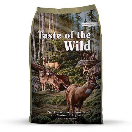 Taste Of The Wild Pine Forest Canine con venado y legumbres