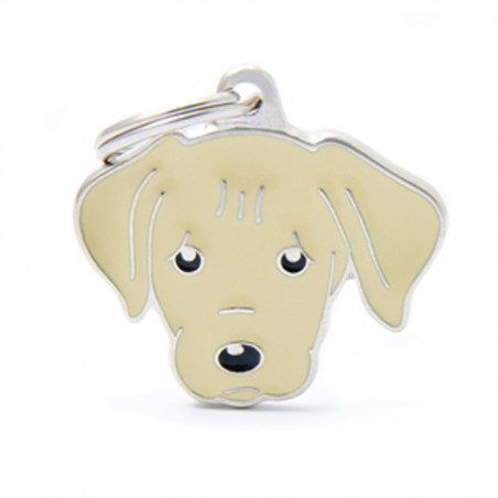 Placa Identificativa Labrador Amarillo