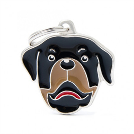 Placa Identificativa Perro Rottweiler