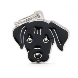 Placa Identificativa Perro Labrador Negro
