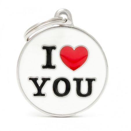 Placa Identificativa I Love You