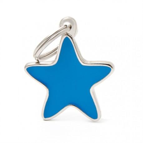 Placa Identificativa Estrella Azul