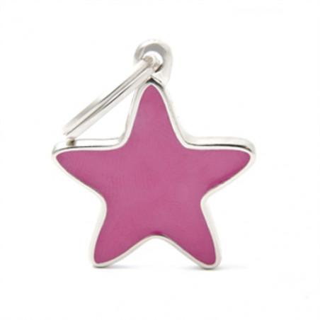 Placa Identificativa Estrella Rosa