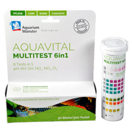 Aquavital Multitest 6 en 1 para Acuarios