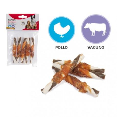 Twist para Perros Bicolor Pollo y Vacuno