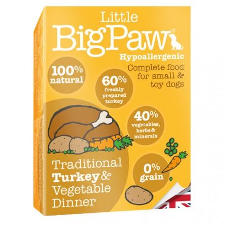 Tarrina Little Big Paw Pavo para Perros