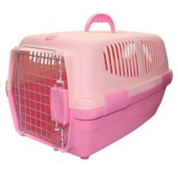 Transportin Rosa Para Perros y Gatos