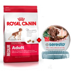 PACK Royal Canin Medium Adult + Seresto Collar 70cm