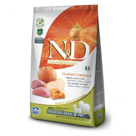 Farmina Natural & Delicious Calabaza Adulto Medium & Maxi Jabalí