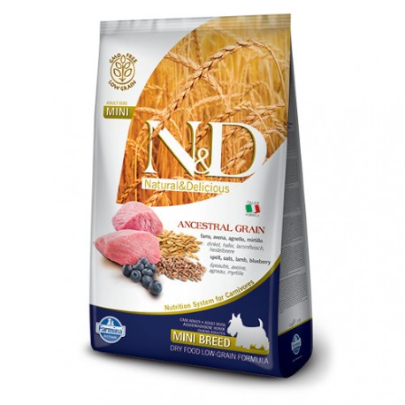Farmina Natural & Delicious Low Grain Adult Mini Cordero y Aránd