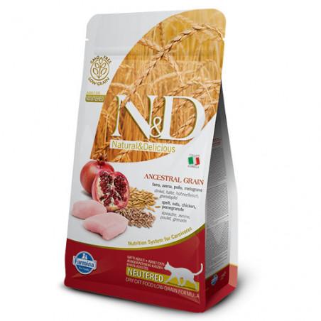 Farmina Natural & Delicious Low Grain Gatos Pollo y Granada Neut