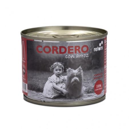 Retorn Lata de Cordero con Arroz para Perros 185g