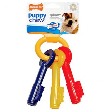 Juguete mordedor para cachorros nylabone llave