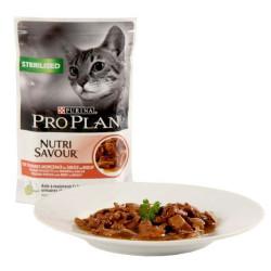 Purina pro plan para gatos esterilizados con buey 85grs