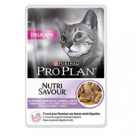 Purina pro plan nutri savour para gatos alérgicos con pavo 85grs